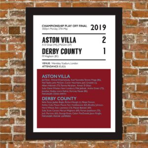 Aston Villa V Derby County 2019 Art Print